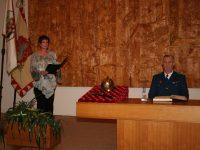 Ocenění pana Miloše Fridricha titulem ZASLOUŽILÝ HASIČ –  20. listopadu 2006 –  Zámek Přibyslav – foto č. 5/10