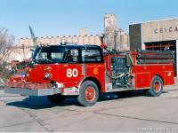 12. CFD American LaFrance Century Pumper – Engine 80, možná právě tento vůz byl použit jako Engine 67 a 25