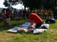 Výcvik na vodě – 10-12.6.2011, Veltrusy – Ukázka resuscitace
