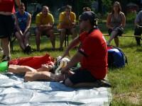 Výcvik na vodě – 10-12.6.2011, Veltrusy – Ukázka použití resuscitační masky