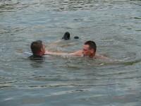 Výcvik na vodě – 10-12.6.2011, Veltrusy – Záchrana tonoucího