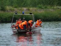 Výcvik na vodě – 10-12.6.2011, Veltrusy – Vytažení tonoucího na člun