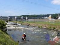 Výcvik v dravé vodě – 2012, Veltrusy – Příprava na skok do proudu