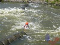 Výcvik v dravé vodě – 2012, Veltrusy – Plavání do proudu