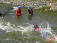 Výcvik v dravé vodě – 2012, Veltrusy – Aktivní plavání v dravé vodě