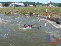Výcvik v dravé vodě – 2012, Veltrusy – Pasivní plavání v dravé vodě ve dvojici za sebou (Záchranář, zachraňovaný)