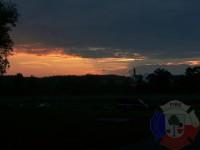 Výcvik v dravé vodě – 2012, Veltrusy – Sobotní západ slunce v kempu Obora, Veltrusy