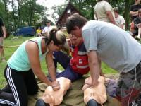 Výcvik v dravé vodě – 2012, Veltrusy – Zdravověda, nácvik resuscitace