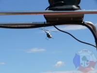 Výcvik v dravé vodě – 2012, Veltrusy – Naše kolona hasičských člunů zaujala pilota vrtulníku