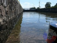 Výcvik v dravé vodě – 2012, Veltrusy – Výlet na lodích – plavební komora Hořín