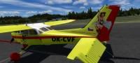 Cessna 172 SDH Čelákovice s červeným pruhem OK-CVF – Letecké simulace – obrázek 4/8